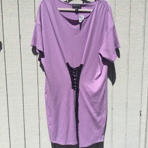 NWT lavender dress with black tie up front